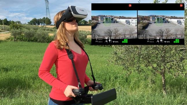 BEBOP PRO - Follow Me - TapFly - Spotlight - AR localizers - VR FPV